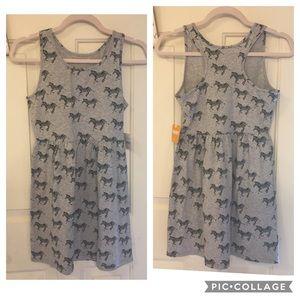 NWT Gymboree tank top dress with zebra print, Lg